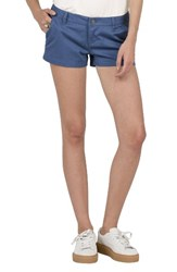 Volcom Women's Frochickie Chino Shorts Blue Drift