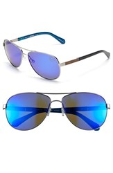Men's Original Penguin 'The Davis' 61Mm Polarized Sunglasses Matte Gunmetal Blue Mirror