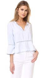 Bella Dahl Peplum Shirt Shadow Seams Wash