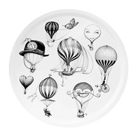 Rory Dobner Balloons Circular Tray Black And White