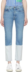 Ports 1961 Blue Two Tone Jeans