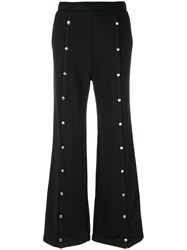 Alexander Wang T By Studded Flared Trousers Women Cotton Polyester Xs Black