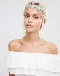 Love Rocks Statement Crown Headband Gold Cream