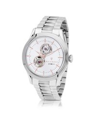 Maserati Tradizione Silver Tone Stainless Steel Men's Bracelet Watch