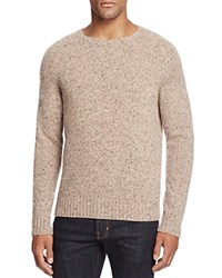Bloomingdale's The Men's Store At Donegal Cashmere Crewneck Sweater Lt Heather Brown Multi