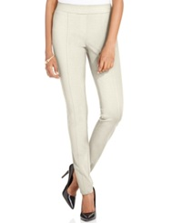 Style And Co. Stretch Seam Front Ponte Leggings Only At Macy's Winter White