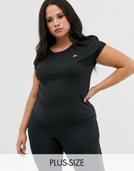 Only Play Aubree Loose Training Tee In Black
