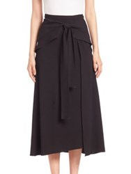 Proenza Schouler Asymmetrical Wrap Skirt Black