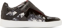 Giuliano Fujiwara Black Abstract Print Sneakers
