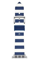 Kate Spade New York Apple Watch Silicone Strap 25Mm Blue White