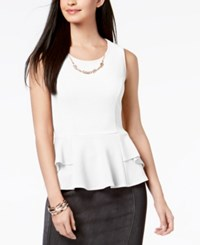Thalia Sodi Peplum Necklace Top Created For Macy's Bright White