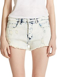 Blank Nyc Frayed Denim Shorts Light Wash