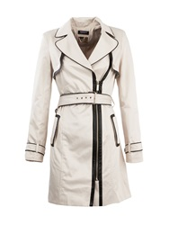 Morgan Contrasting Piping Trench Coat Beige