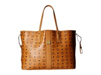 Mcm Liz Large Shopper Cognac Handbags Tan