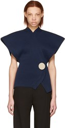 Jacquemus Navy Le Cardigan Knit Sweater