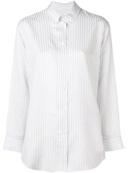 Paul Smith Ps Striped Button Down Shirt White