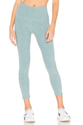 Beyond Yoga Spacedye Walk And Talk High Waisted Capri Legging Blue