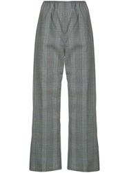 Sofie D'hoore Cropped Check Trousers Grey