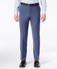 Dkny Men's Slim Fit Stretch Neat Suit Pants Blue