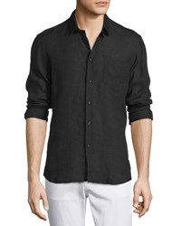 Vilebrequin Linen Long Sleeve Shirt Black