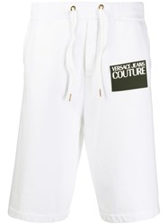 Versace Jeans Couture Front Logo Patch Track Shorts White