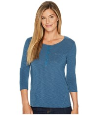 Kuhl Trista 3 4 Sleeve Top Harbor Clothing Blue