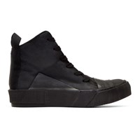 Boris Bidjan Saberi Black Waxed High Top Sneakers
