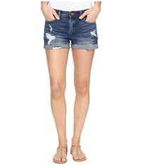 Blank Nyc Cuffed Distressed Shorts In Dress Down Party Dress Down Party Women's Shorts Blue