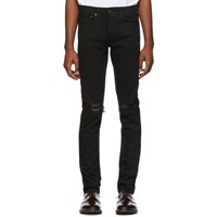 Rag And Bone Black Fit 1 Distressed Jeans