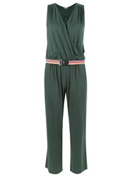 Lygia And Nanny V Neck Belted Jumpsuit Green