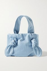 Staud Ronnie Knotted Canvas Tote Light Blue