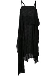 Lost And Found Ria Dunn Short Scarfed Dress Black