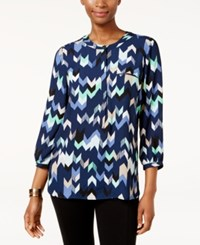 Jm Collection Zigzag Print Blouse Only At Macy's Diamond Mine
