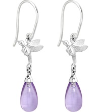 Theo Fennell Sterling Silver And Amethyst Earrings