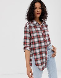 Cheap Monday Organic Cotton Shirt With Knot Front In Check Multi