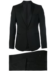 Emporio Armani Tuxedo Suit Men Cupro Virgin Wool 46 Black