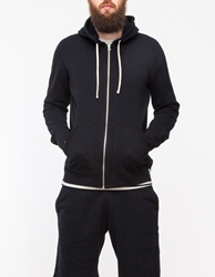 Reigning Champ Core Full Zip Hoodie Black