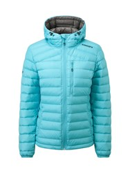 Tog 24 Zenon Womens Down Hooded Jacket Blue