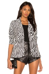 Frame Zebra Blazer Black And White