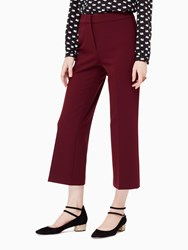 Kate Spade Crepe Cropped Flare Pant Midnight Wine