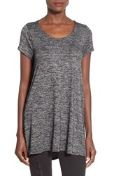 Junior Women's Sun And Shadow Long Knit Swing Tee