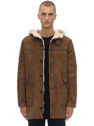 Schott Lc Leather Duffle Jacket Taupe