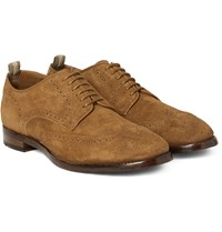 Officine Creative Princeton Suede Wingtip Brogues Tan