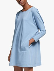 Eileen Fisher Cotton Jersey Dress Haze