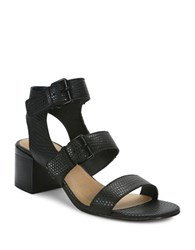 Tahari Dalton Leather Sandals Black