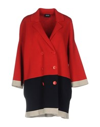 Armani Jeans Overcoats Red