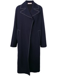 Marni Oversized Duster Coat Blue