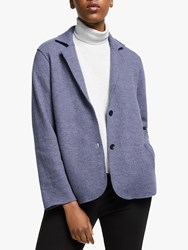Eileen Fisher Boiled Wool Jacket Blue Shale