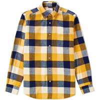 Portuguese Flannel Button Down Ouro Check Shirt Yellow