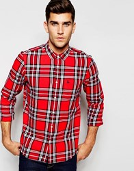 Jack Wills Shirt In Red Tartan Check In Red